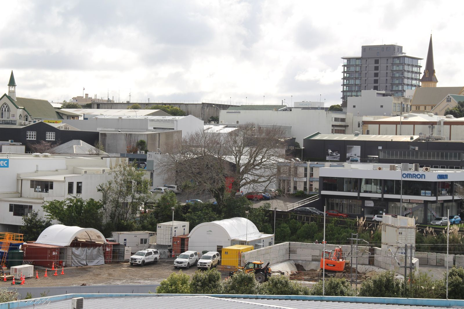Containerised facility plays key role in Mount Eden Train Station construction
