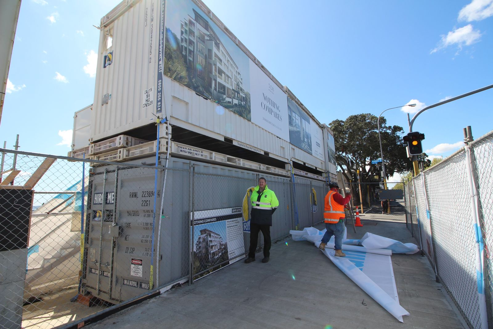 Royal Wolf provided a fit for purpose and tailored container solution for the 308 Remuera apartments site.