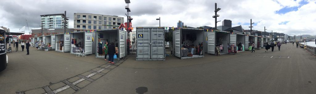 "alt=""Royal Wolf creates pop-up container village at the Wellington Underground Markets 2"""